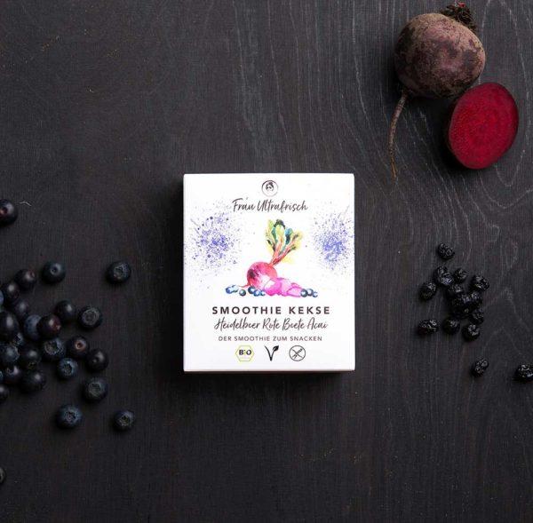 vegane Smoothie Snacks mit Heidelbeere Rote Beete Acai