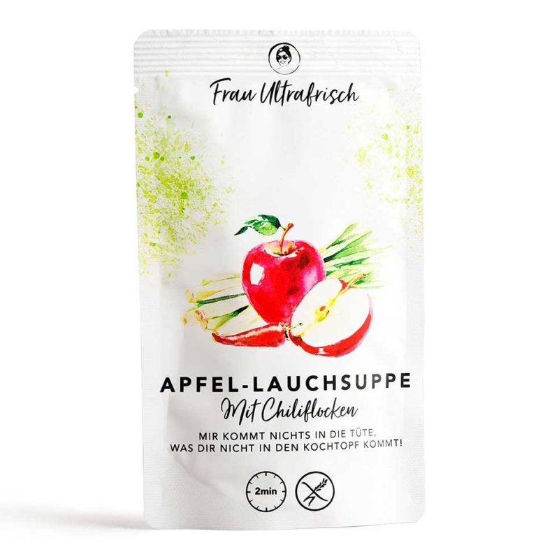 vegetarische Apfel-Lauchsuppe aus der Tüte