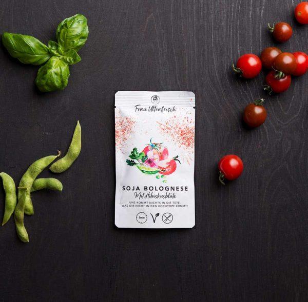 vegane Soja-Bolognese Fertiggericht