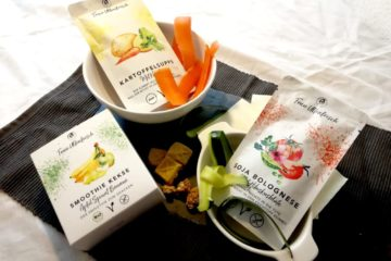 vegane Snacks, Fertiggerichte und Suppen